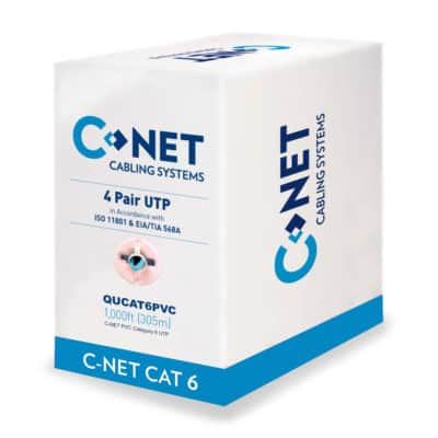 CNET CAT6 Unscreened PVC Twisted Pair QUCAT6PVC